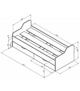ДЕЛЬТА-18.01 кровать односпальная схема с размерами