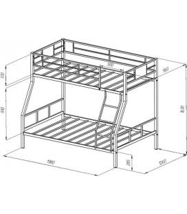 двухъярусная кровать Гранада-1 схема