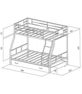 двухъярусная кровать Гранада-1Я схема
