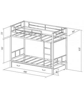 двухъярусная кровать Севилья-2 Я (ящик) схема