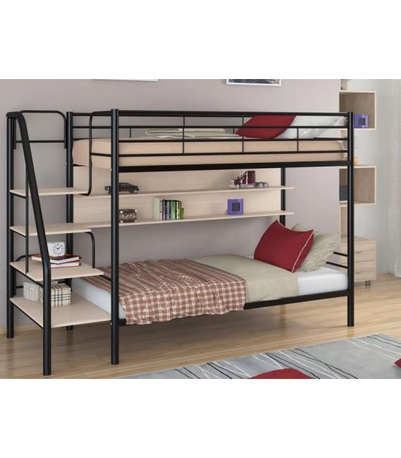 buymebel.ru кровать двухъярусная с лестницей Толедо-П