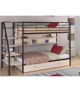 кровать двухъярусная с лестницей Толедо-ПЯ