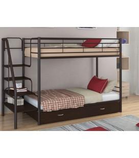 кровать двухъярусная с лестницей Толедо-Я