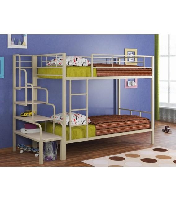 buymebel.ru кровать Севилья-2 + лестница тумба + матрас Bliss-макс-кокос-90-190-16 (2шт.)