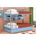 buymebel.ru двухъярусная кровать Севилья-2 ПЯ серый / голубой