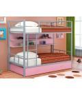 buymebel.ru двухъярусная кровать Севилья-2 ПЯ серый / розовый