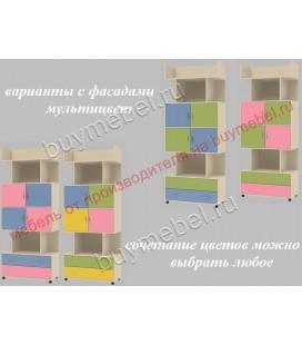 фасады мультицвет ДЕЛЬТА-5.03 шкаф комбинированный