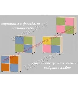 фасады мультицвет ДЕЛЬТА-7.01 тумба 4-х дверная