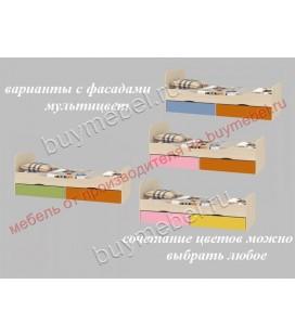 фасады мультицвет ДЕЛЬТА-19 кровать односпальная
