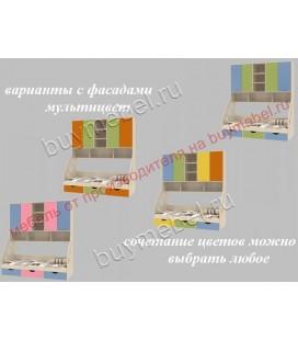 фасады мультицвет ДЕЛЬТА-21.11 кровать с антресолью