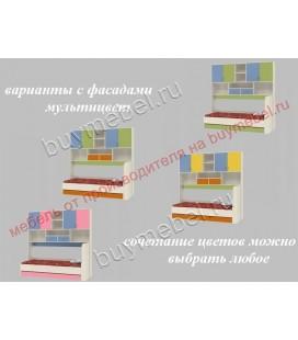 фасады мультицвет ДЕЛЬТА-21.03 кровать с антресолью