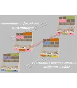 фасады мультицвет ДЕЛЬТА-21.12 кровать с антресолью