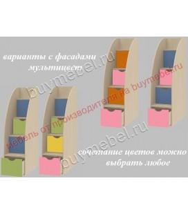 фасады мультицвет лестница Дельта-23Л3 тумба комод