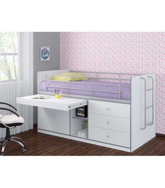 buymebel.ru кровать чердак Дюймовочка-6 белая (Формула мебели)