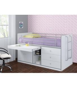 кровать чердак Дюймовочка-6 белая (Формула мебели)