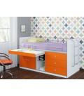 buymebel.ru кровать Дюймовочка-6 фасад оранжевый (Формула мебели)