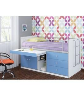 кровать Дюймовочка-6 фасад голубой (Формула мебели)