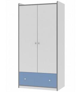 Дельта 9 Сильвер шкаф с ящиком (Формула мебели)