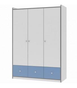 Дельта 9.1 Сильвер шкаф 3-х дверный (Формула мебели)