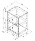 buymebel.ru схема Дельта-24.3 Сильвер тумба с двумя ящиками (Формула мебели)
