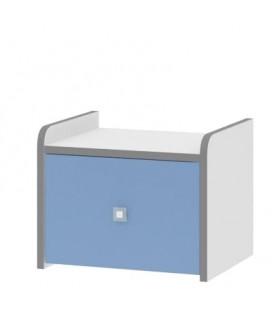 Дельта-24.4 Сильвер тумба с одним ящиком (Формула мебели)