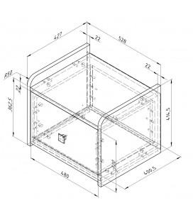 схема Дельта-24.4 Сильвер тумба с одним ящиком (Формула мебели)