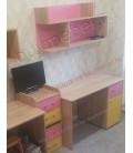 buymebel.ru ДЕЛЬТА-15/1 стол письменный корпус дуб Сонома, фасад мультицвет