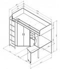 buymebel.ru кровать-чердак М-85 Теремок размеры