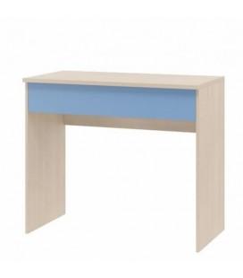 фото ДЕЛЬТА-15/2 стол письменный с ящиком корпус дуб молочный, фасад голубой
