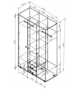 ДЕЛЬТА-3.03 шкаф для одежды