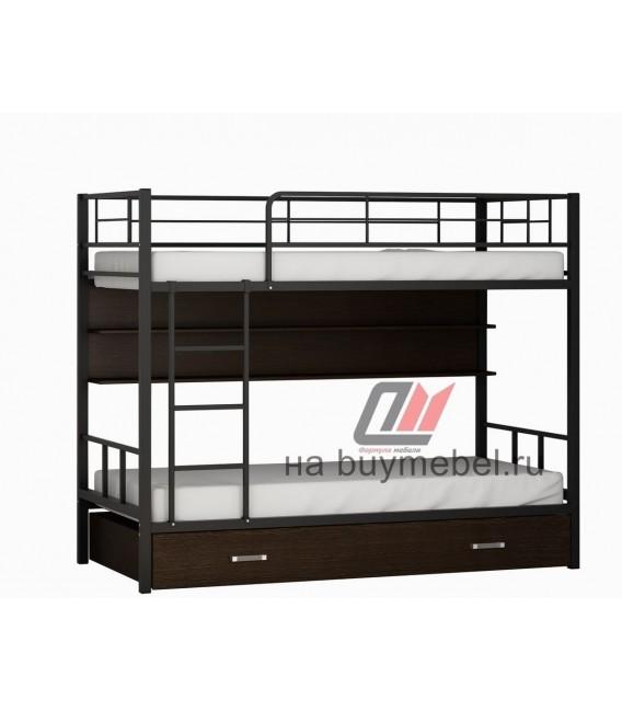 buymebel.ru двухъярусная кровать Севилья-2 ПЯ чёрный / венге