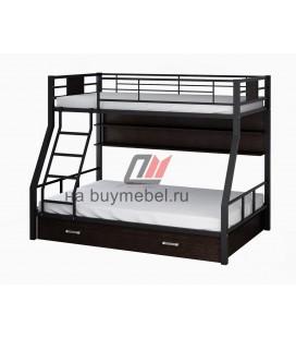 двухъярусная кровать Гранада-1 ПЯ цвет чёрный - венге