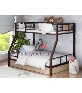 двухъярусная кровать Гранада-1Я цвет коричневый - дуб молочный