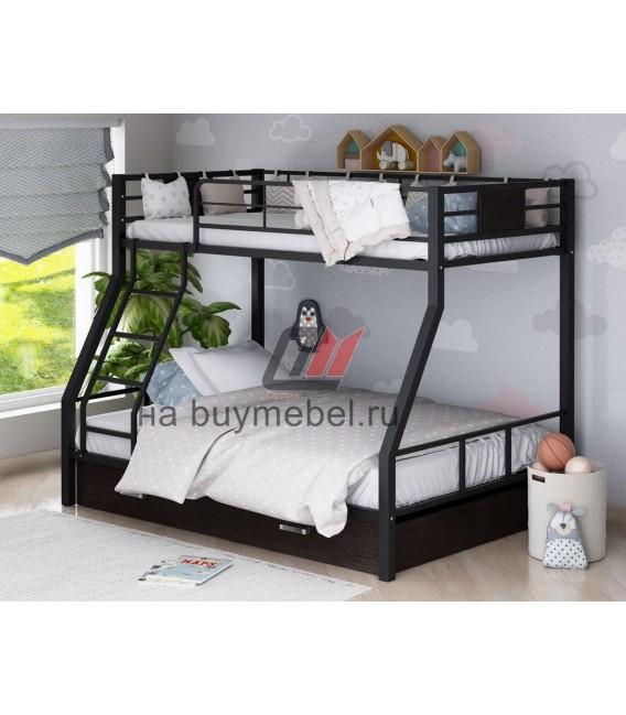 buymebel.ru двухъярусная кровать Гранада-1Я цвет чёрный - венге