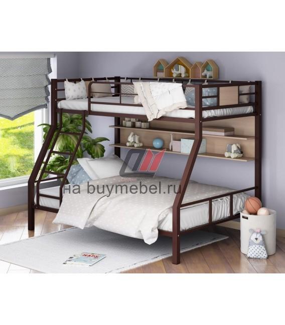 buymebel.ru кровать Гранада-1П цвет коричневый - дуб молочный
