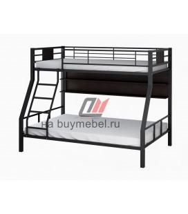 кровать Гранада-1П цвет чёрный - венге