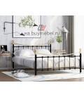 buymebel.ru кровать двухспальная Эльда цвет чёрный / золото