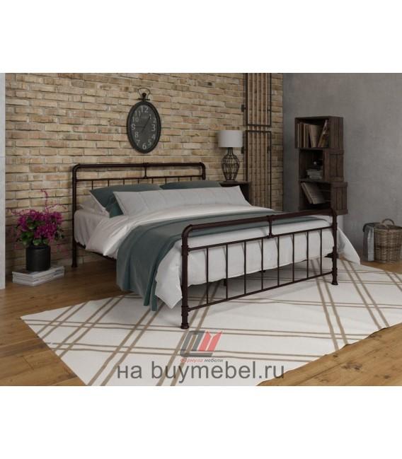 buymebel.ru кровать двухспальная Авила цвет коричневый
