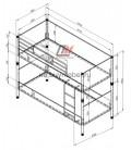 buymebel.ru Дельта-Лофт-20.02.02 двухъярусная кровать размеры
