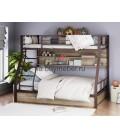 buymebel.ru двухъярусная кровать Гранада-1 ПЯ цвет коричневый - дуб Айленд