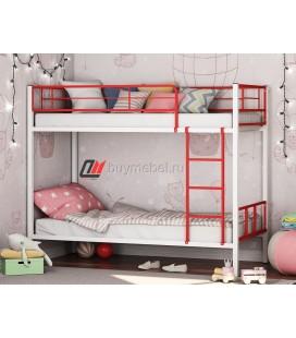 двухъярусная кровать Севилья-2-01 цвет белый / красный