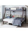 buymebel.ru кровать Гранада 1400 коричневый / светлый шимо