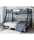 buymebel.ru кровать Гранада 1400 цвет чёрный / дуб Айленд