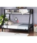 buymebel.ru 2-х ярусная кровать Гранада-1 140 цвет чёрный / дуб Айленд