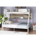 buymebel.ru двухъярусная кровать Гранада-1П 140 цвет белый / светлый шимо