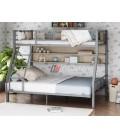 buymebel.ru двухъярусная кровать Гранада-1П 140 цвет серый / дуб Сонома