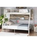 buymebel.ru двухъярусная кровать Гранада-1П 140 цвет слоновая кость / дуб Айленд
