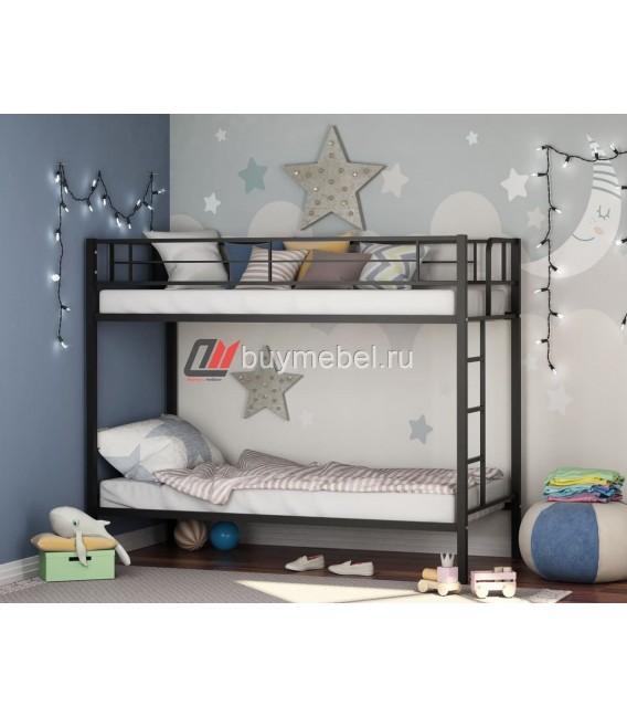 buymebel.ru двухъярусная кровать Севилья чёрная