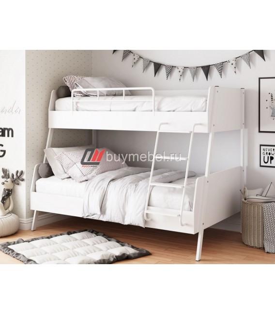 buymebel.ru Дельта-Лофт-20.02.04 двухъярусная кровать белая