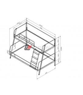 Дельта-Лофт-20.02.04 двухъярусная кровать размеры
